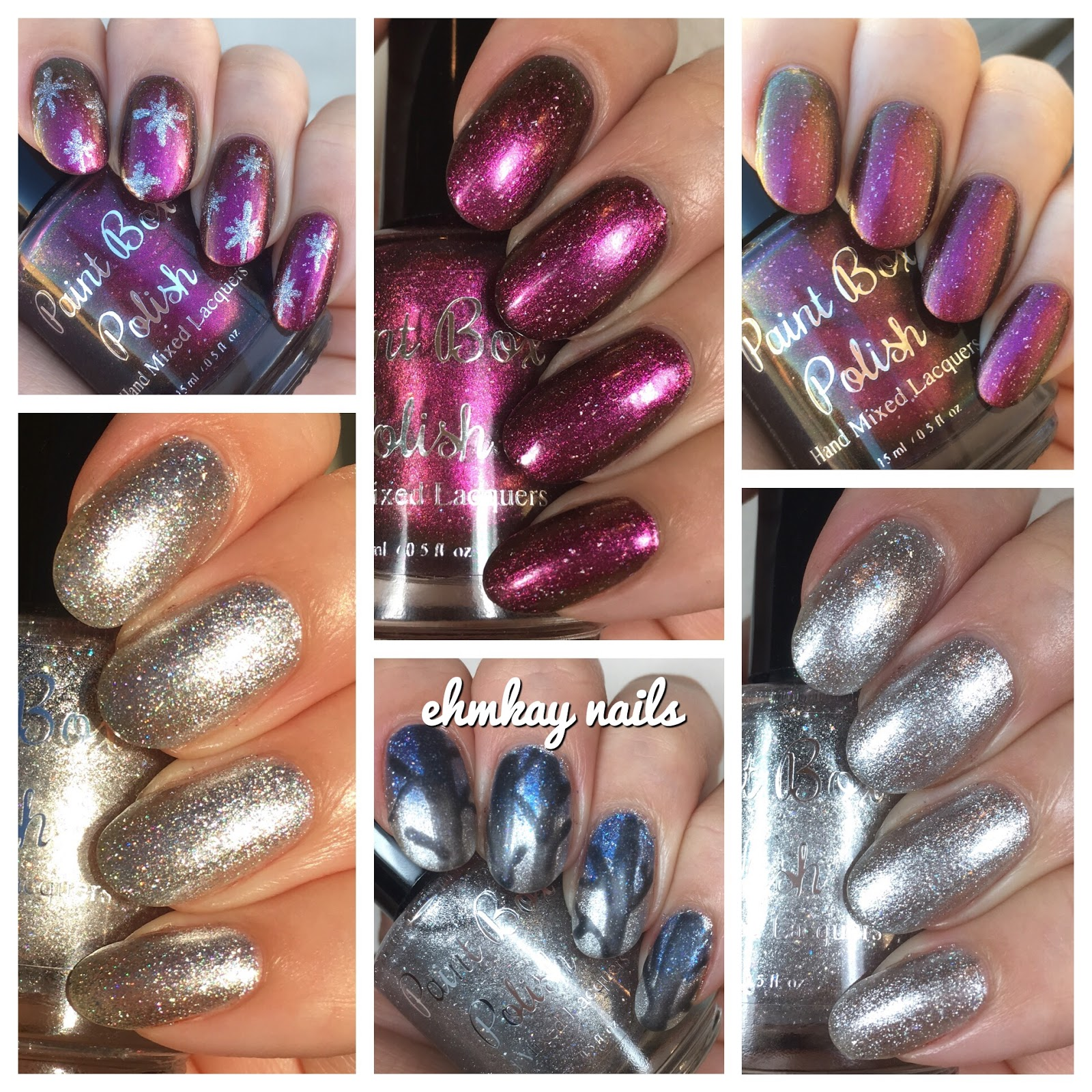ehmkay nails: Paint Box Polish Snowy Evening and Sanguine Stars ...