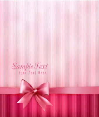 vector rayado en tonos rosas con lazo