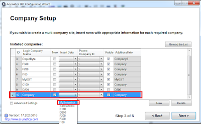 Acumatica Custom Database Data