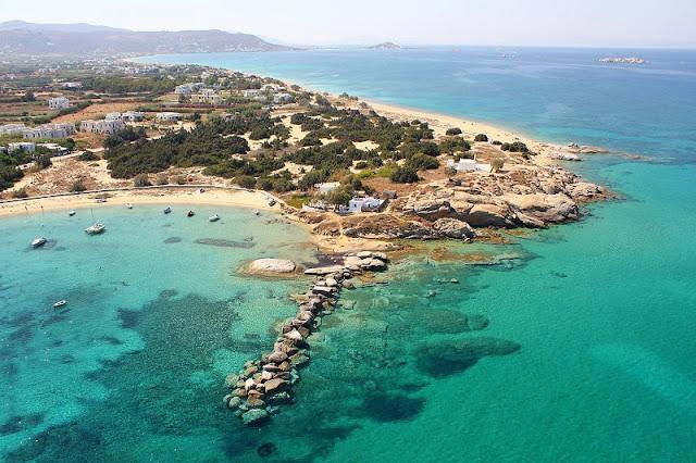 Praias da ilha de Naxos, Grécia