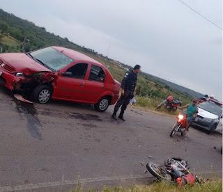 Mulher fica gravemente ferida após acidente em Coronel Ezequiel