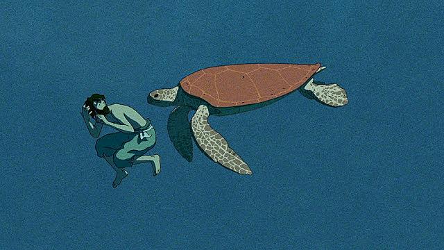 Fotograma de la película: La tortuga roja (2016)