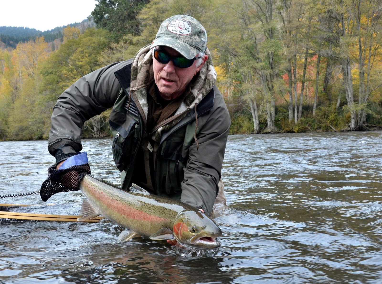 The evening hatch reports klickitat river report 11 2 16 for Klickitat river fishing report