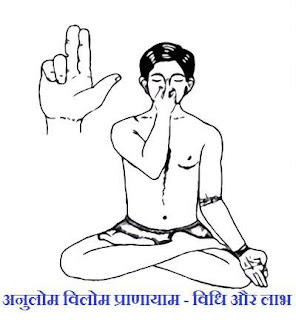 anulom vilom pranayama benefits steps hindi