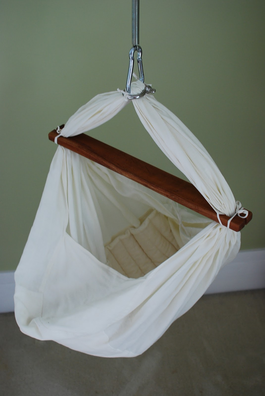 Stand And Deliver Linen Baby Hammock For Sale