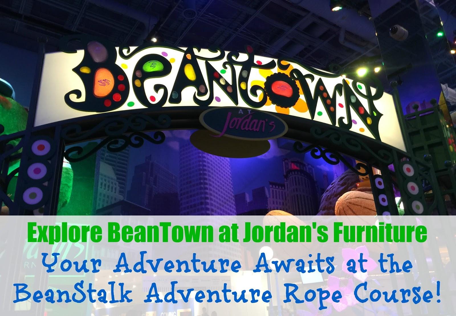 BeanTown at Jordan39s Furniture in Reading Featuring the BeanStalk