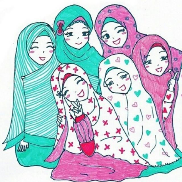 Gambar Dp Bbm Muslimah Berhijab Terbaru Gambar Kata Humor