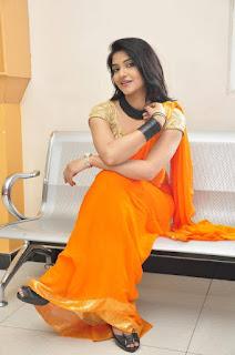 Actress Kashmira Kulkarni Stills in Saree at Drishya Kavyam Movie Success Meet  0039