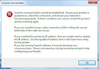 Scanner not Working HP