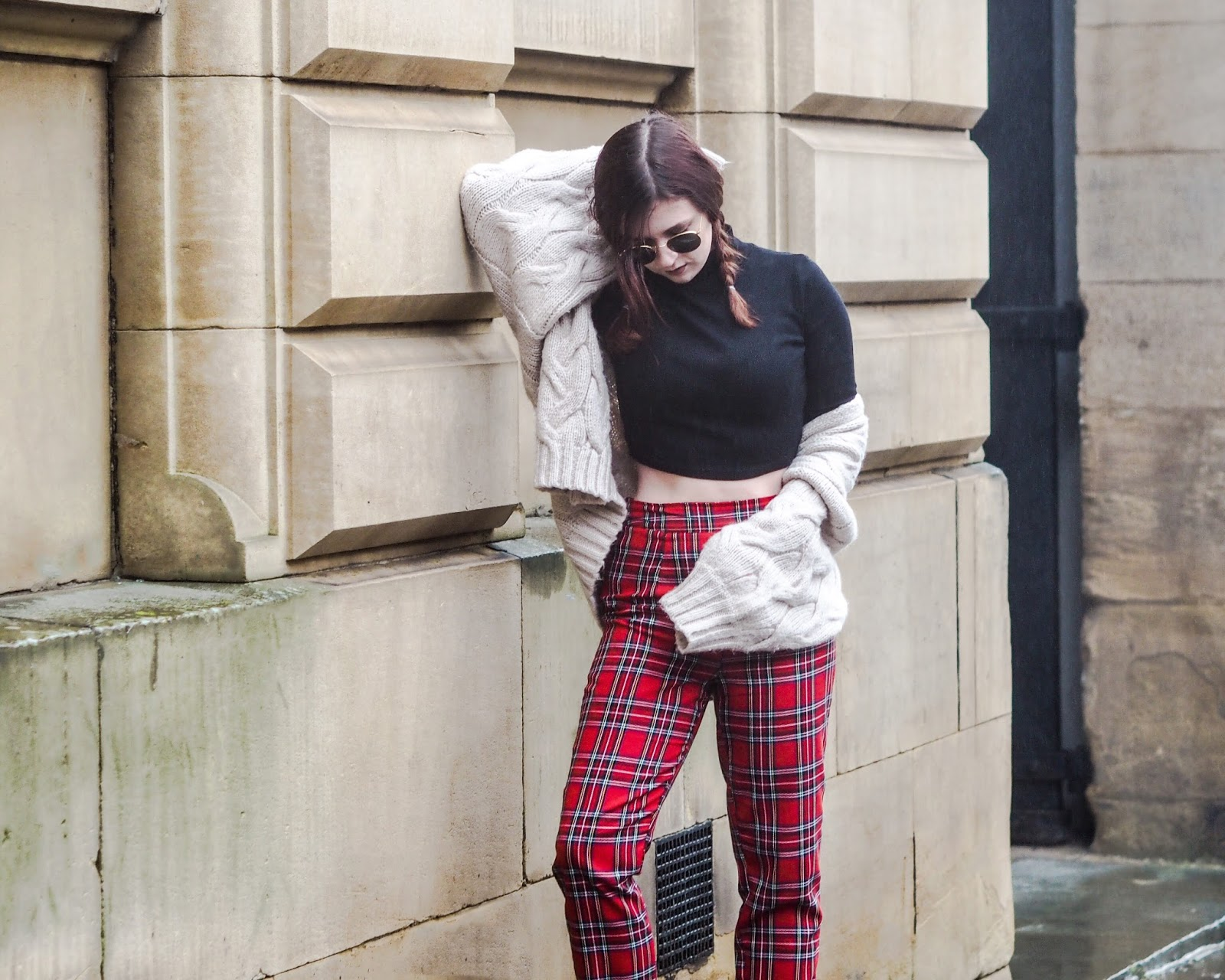 tartan and knitwear