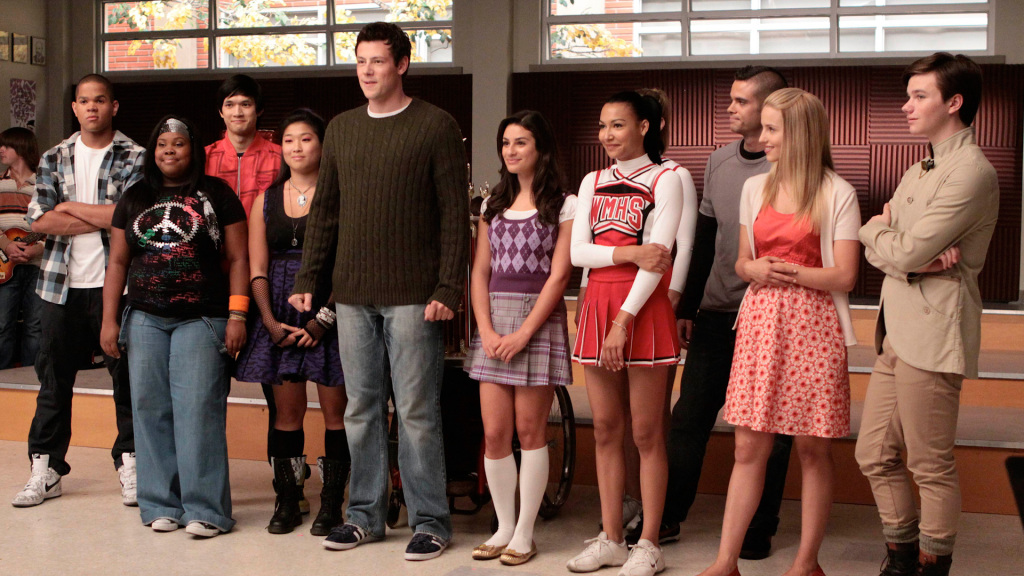Algunos de los personajes de 'Glee'