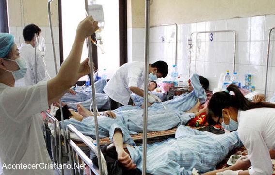 Pacientes con cáncer en hospital