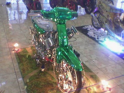 Modifikasi Motor Honda Grand Chrome hijau