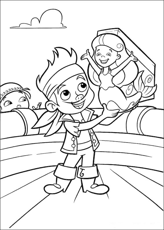 Jake And The Neverland Pirates Characters Coloring