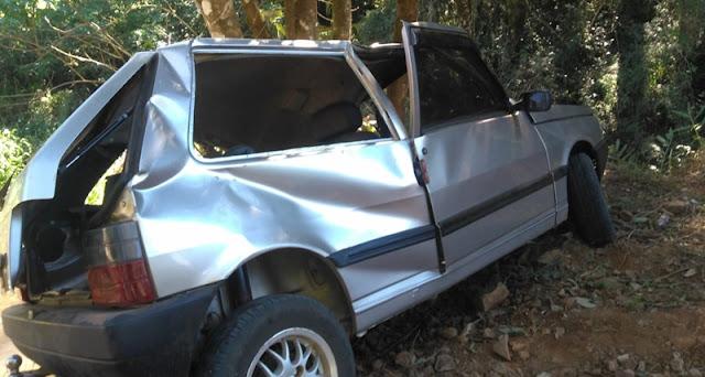 Roncador: Três pessoas ficam feridas em acidente na estrada para Alto São João