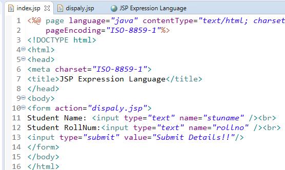 JSP Expression Language
