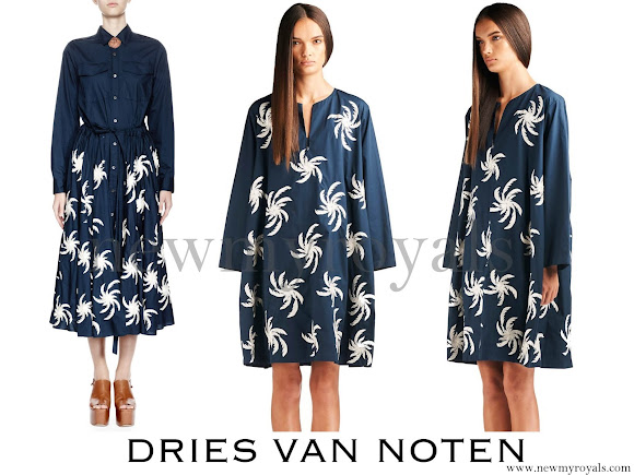 Queen Mathilde wore Dries Van Noten Deanna Skirt