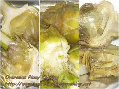 Ginataang Baboy with Artichoke - Boiled Artichoke