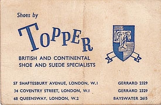 Topper Shoes London 1960s