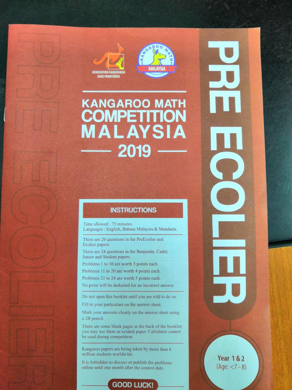 Try These Kangaroo Math Competition Malaysia 2019 Results {Mahindra
