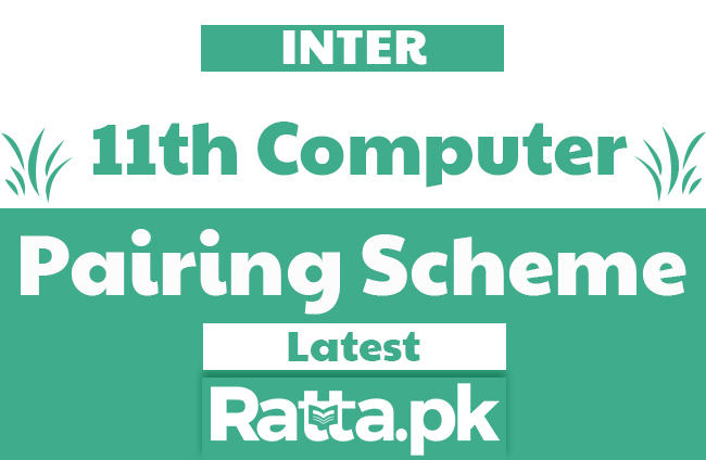 1st Year Computer Science Pairing Scheme 2019 - 11th Class