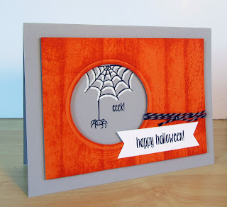 Rachel Durtschi's Halloween Card made with the spider and Spider Web stamps from the Jar of Haunts stamp set