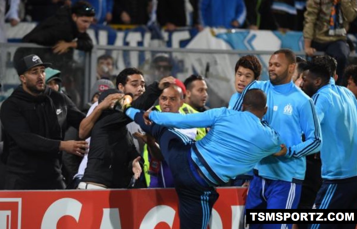 Evra ban from uefa competition till 2018 June for kicking fan