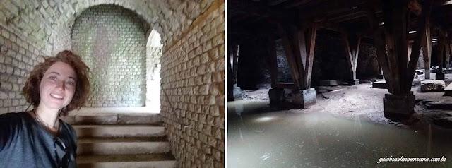 Anfiteatro de Trier: Subterrâneos e escadarias da arquibancada