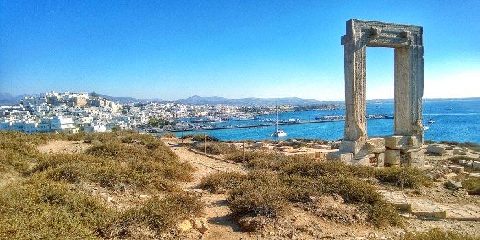 Portara, tempio di Naxos, Grecia