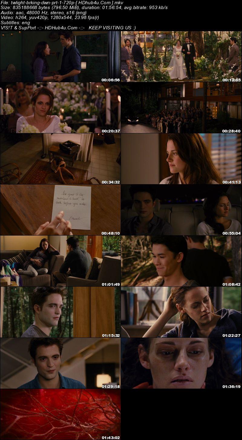 The Twilight Saga Breaking Dawn Part 1 (2011) 300Mb English 480p BluRay Esubs Download