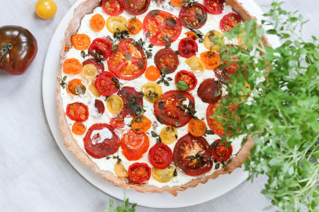 Sommerküche Tomaten : Fleurcoquet tomaten majoran tarte
