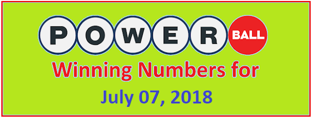 PowerBall Winning Numbers for Wednesday, 07 July 2018