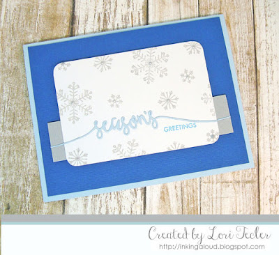 Season's Greetings card-designed by Lori Tecler/Inking Aloud-stamps and dies from Avery Elle