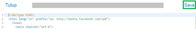Simpan Markup HTML FIA