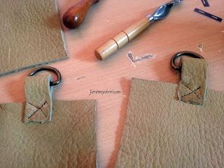 maintient de lanière pour sac en cuir cousu main