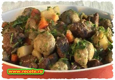Beef Stew with Bacon Dumplings