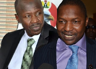 Ibrahim Magu and Abubakar Malami