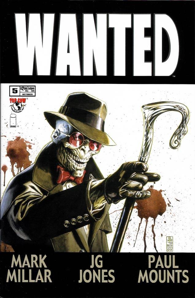 portada Wanted 5, reseña Rictus, cómic