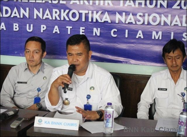 Selama 2018 BNN Rehab 50 orang dan Ungkap 25 Kasus