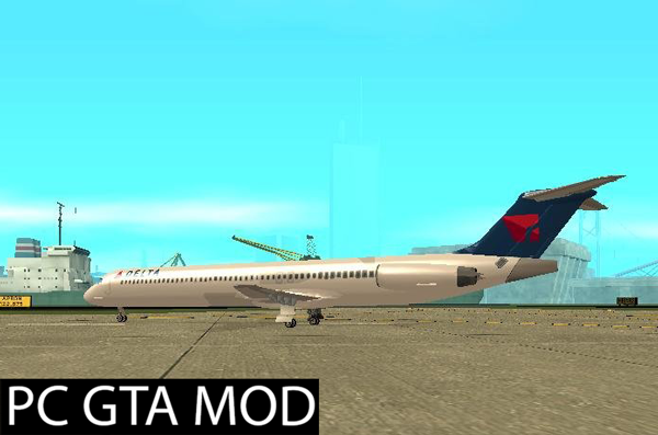 Free Download  McDonnell Doeuglas MD-80 Delta Airlines  Mod for GTA San Andreas.