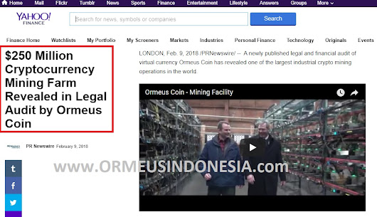 Ormeus Global Indonesia || Ormeus Coin Indonesia || www.OrmeusIndonesia.com