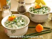 Špenátový šalát so smotanou - recept