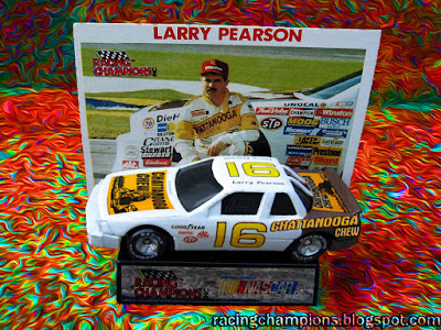 Larry Pearson #16 Racing Champions 1/64 NASCAR diecast blog David #21
