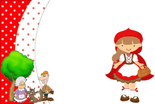 Little Red Riding Hood Party, Free Printable Invitations, Labels or Cards.