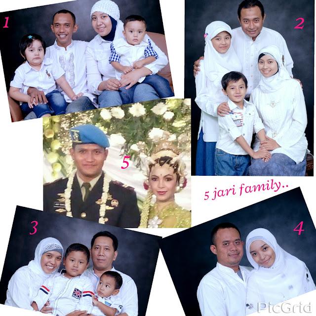 Foto keluarga 5 jari family