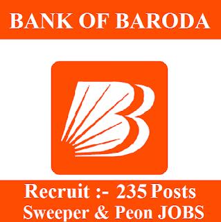 10th, Bank, Bank Of Baroda, BOB, freejobalert, Latest Jobs, Peon, Sarkari Naukri, Sweeper, BIhar, Jharkhand, Odisha,