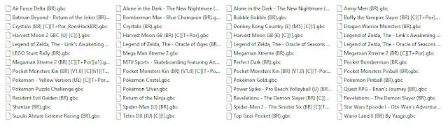 Lista de 52 Roms de Game Boy Color em Português