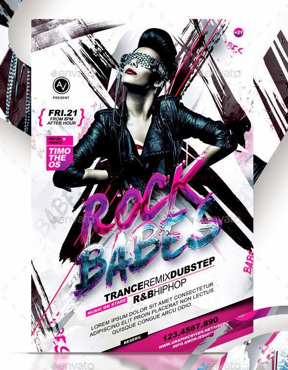 Rock Babes Flyer Template