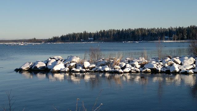 Merenranta, lumi, jää, valo