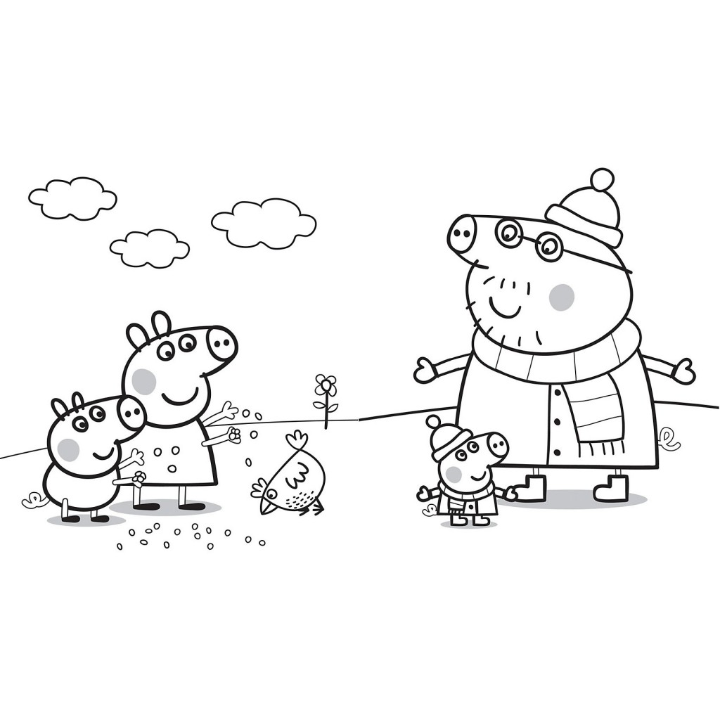Portalisimo.com: Dibujos de Peppa Pig para colorear y pintar